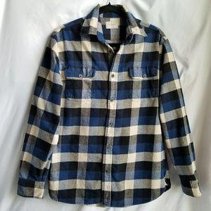 JACHS Thick flannel button down shirt plaid size M